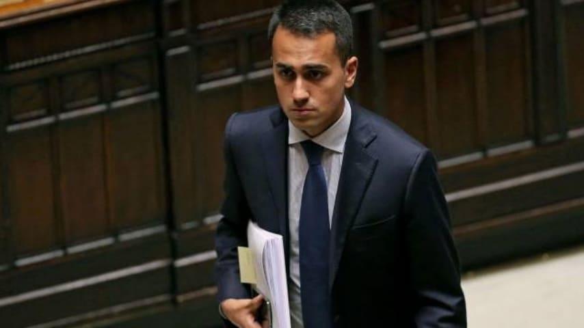 Luigi Di Maio in Parlamento. Immagine: Luigi Di Maio/Facebook