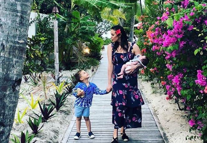 Megan Gale e i suoi bambini