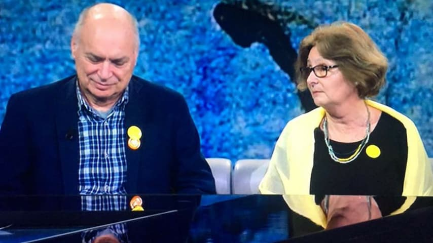 Paola e Claudio Regeni ospiti di Fabio Fazio a Che tempo che fa. Immagine: Pagina Giulio Regeni, verità e giustizia/Facebook