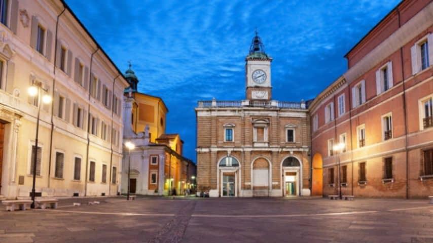Piazza del Popolo a Ravenna dove è avvenuta l'aggressione. Immagine: Sito Turismo.it