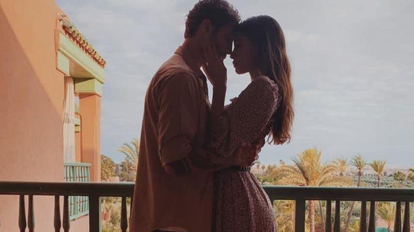 Un romantico scatto dei due in Marocco. Fonte: Belén Rodríguez/Instagram