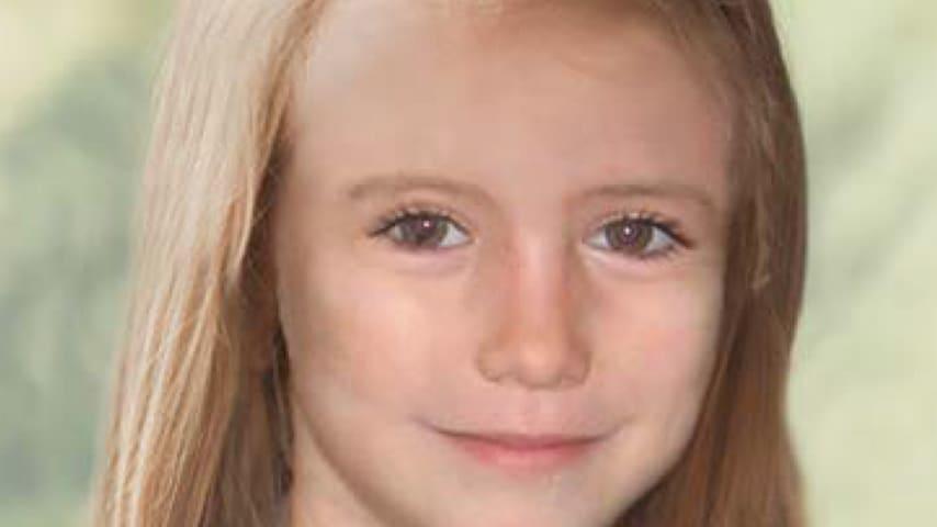 Una foto di come sarebbe stata Maddie McCann a 9 anni. Immagine: Official Find Madeleine Campaign/Facebook