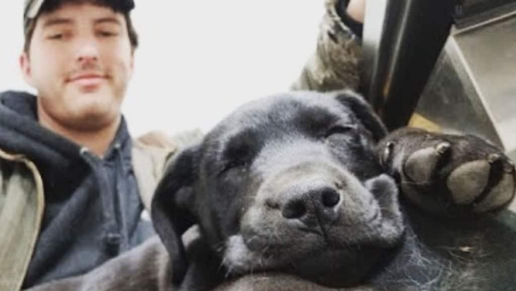 Nick Abbott e il suo cane Emerson