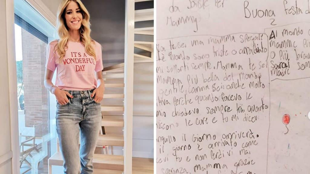Elena Santarelli e la lettera scritta dal piccolo Giacomo