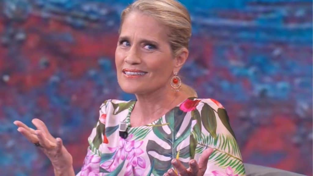 heather parisi nello studiodi che tempo che fa