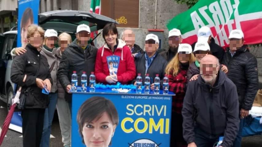 Un evento della campagna elettorale della candidata. Foto: Facebook/Lara Comi