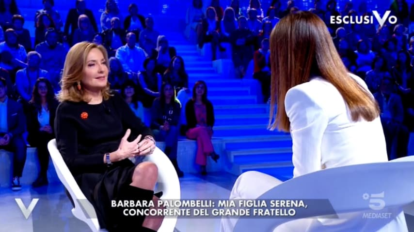 Barbara Palombelli a Verissimo