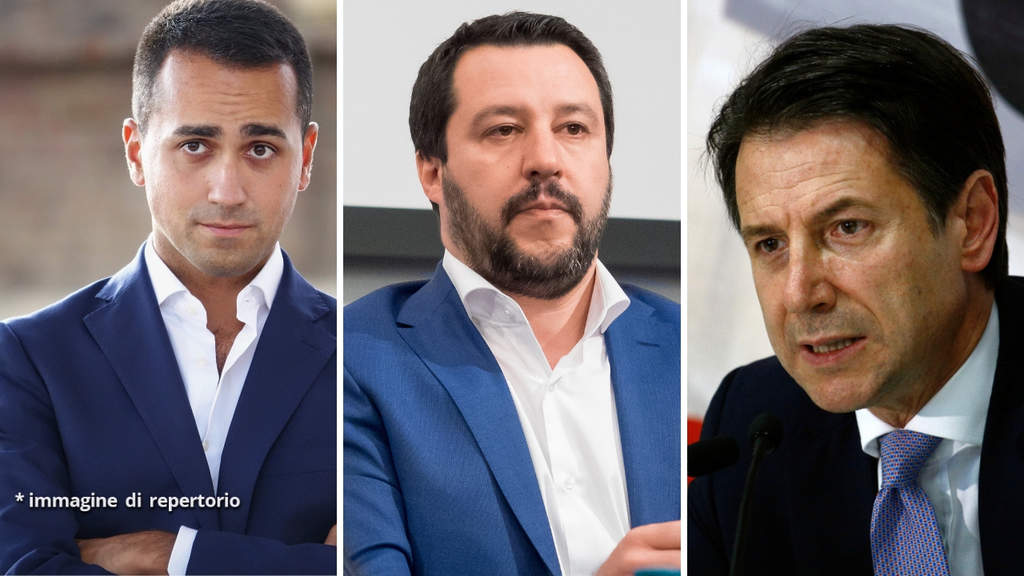 Luigi Di Maio, Matteo Salvini e Giuseppe Conte