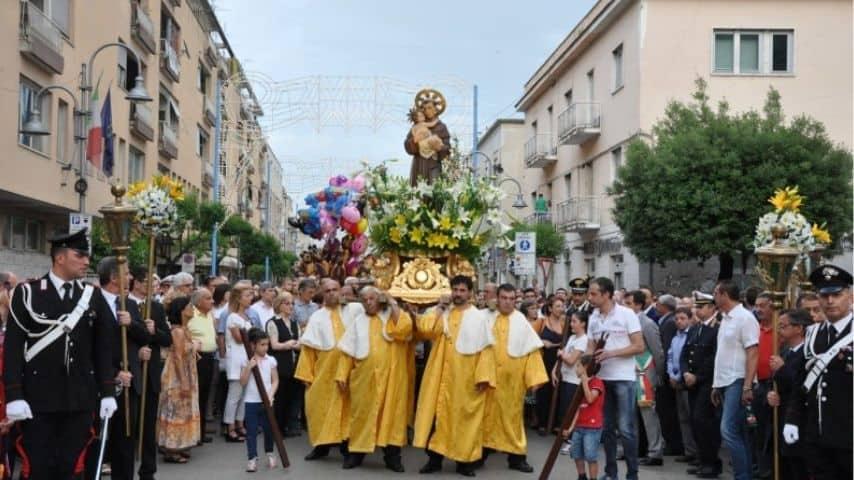 Festeggiamenti per Sant'Antonio da Padova a Cassino. Immagine: Sito Feste in Comune