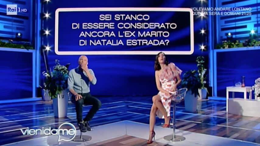Giorgio Mastrota e la domanda sulla sua ex, Natalia Estrada. Immagine: Puntata di Vieni da Me
