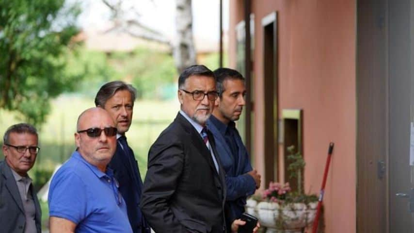 Il procuratore di Ivrea sul luogo dell'accaduto. Immagine: Ansa