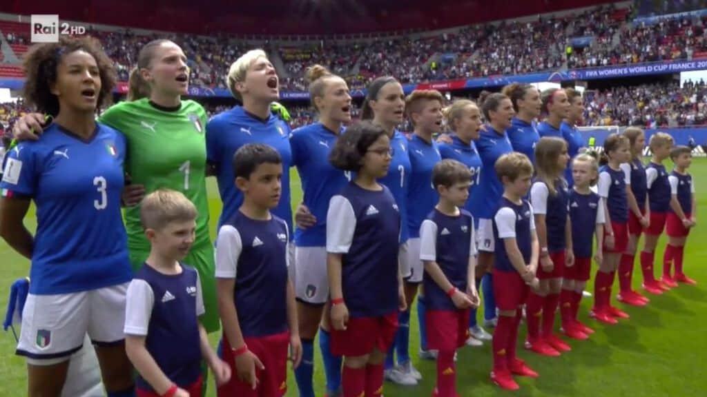 Le azzurre conquistano la prima vittoria al Mondiale di Francia (Foto Rai)