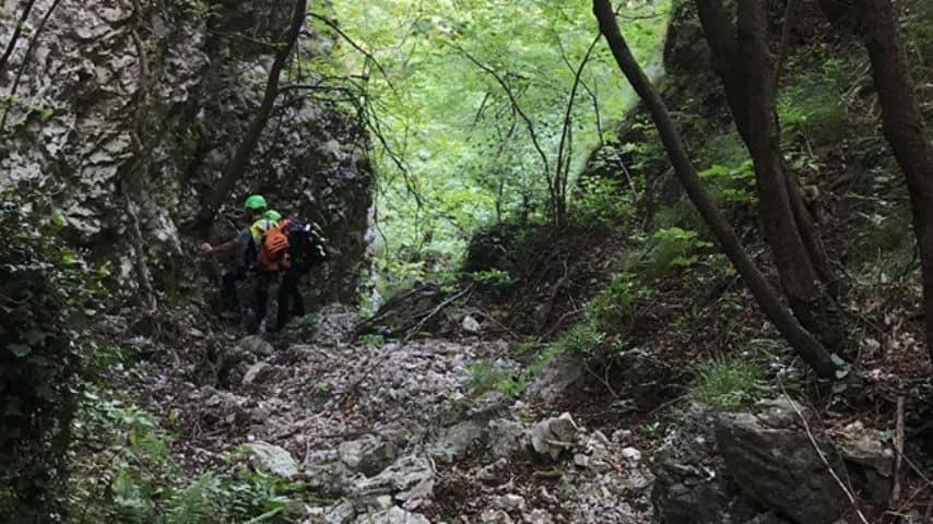 Le ricerche del giovane escursionista in provincia di Bergamo (Foto Soccorso Alpino e Speleologico della Lombardia (CNSAS)