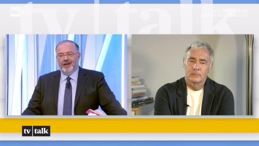 Massimo Bernardini e Massimo Giletti. Immagine: Puntata di Tv Talk