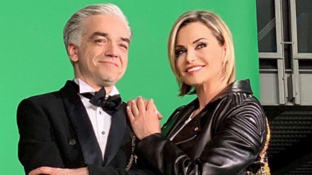 Morgan e Simona Ventura