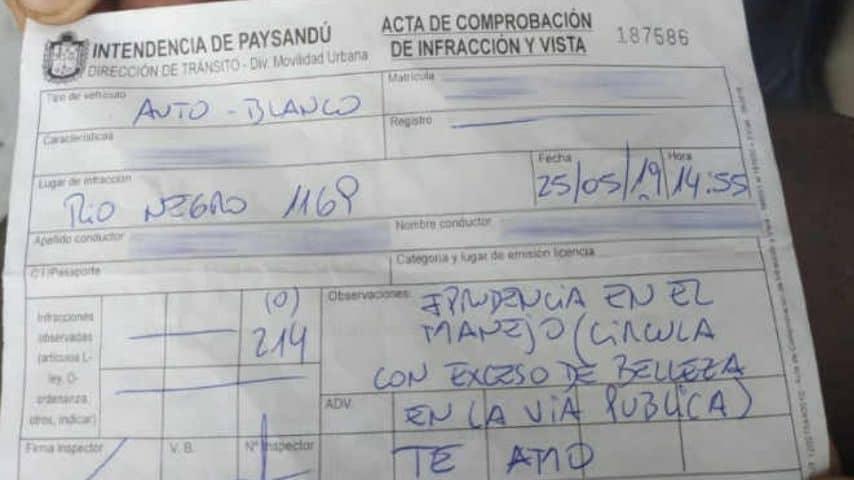 una multa