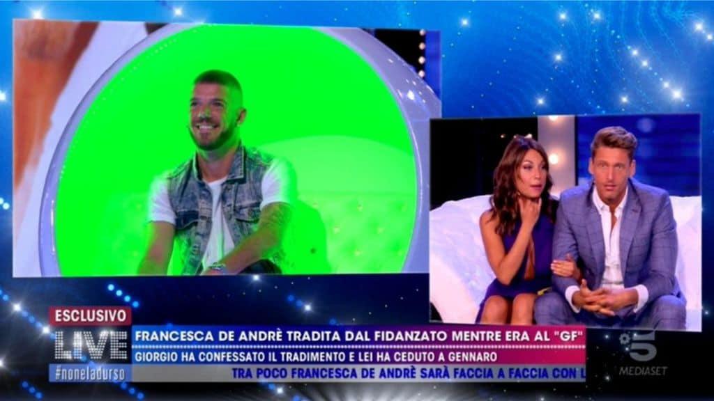 Francesca De André e l'ex Giorgio Tambellini a Live