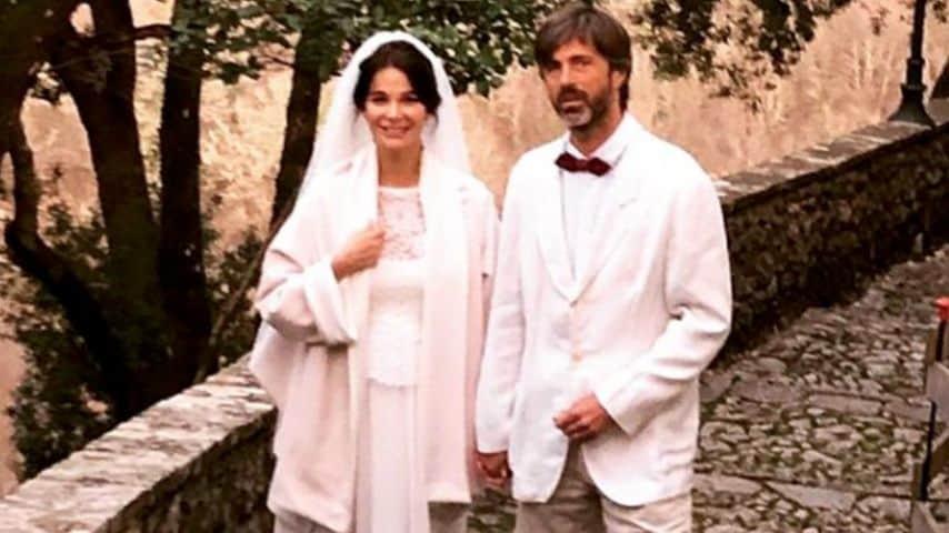 Uno scatto del loro matrimonio, pubblicato da Kim Rossi Stuart. Immagine: Kim Rossi Stuart/Instagram