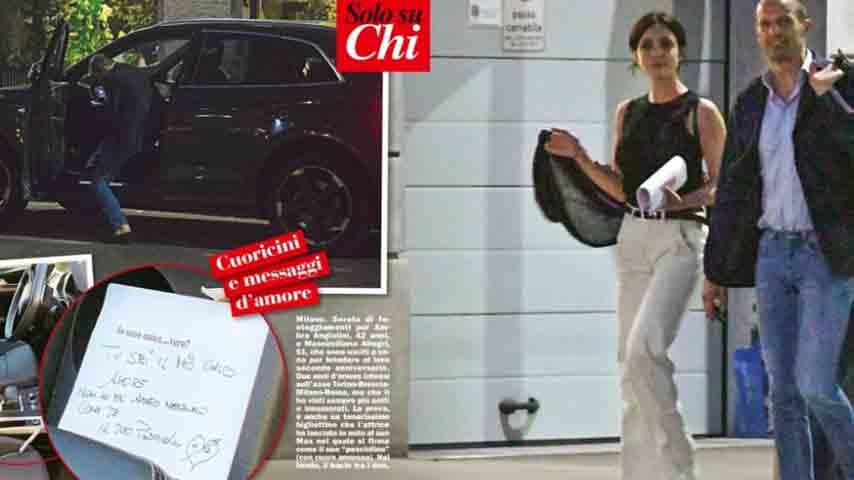 Pagine del settimanale 'Chi' su Ambra Angiolini e Massimiliano Allegri