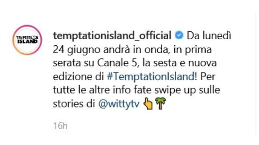 Post Temptation Island