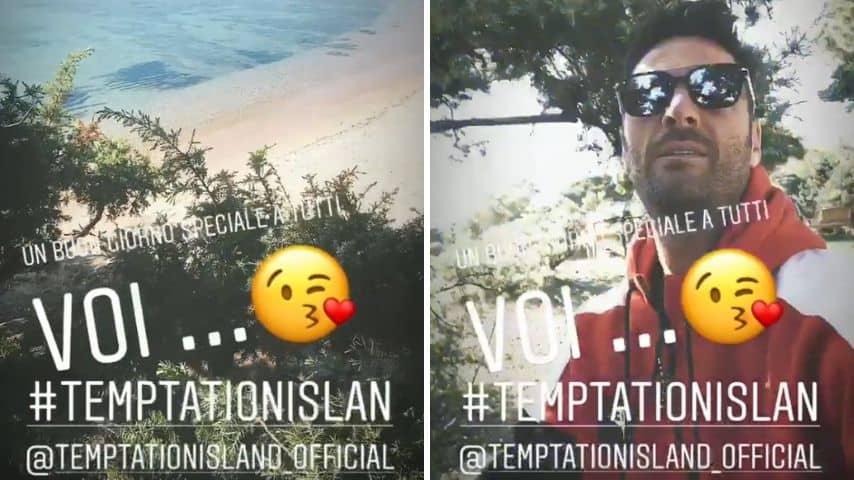 Due fotogrammi delle Instagram stories di Filippo Bisciglia