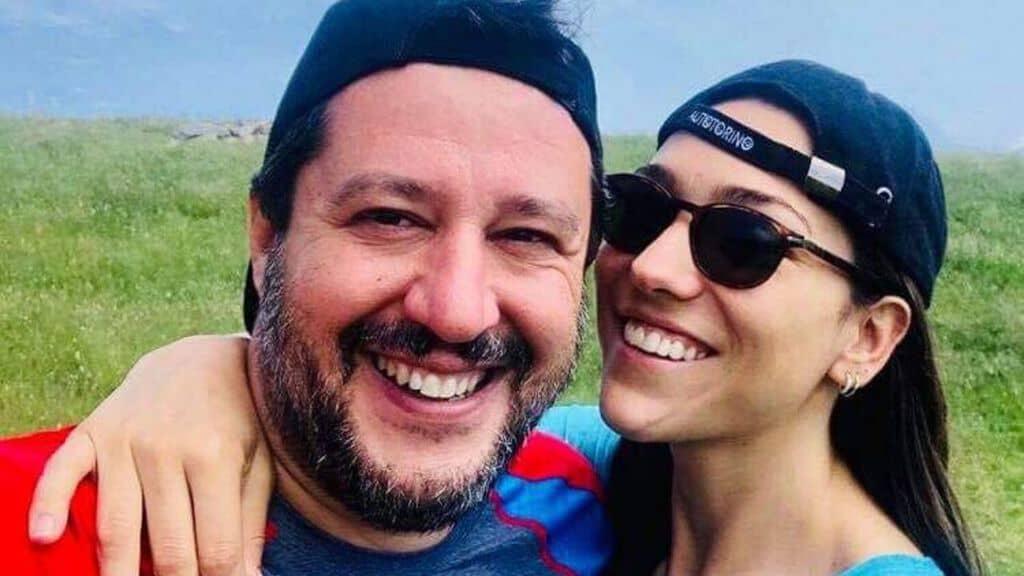 Matteo Salvini e Francesca Verdini Facebook