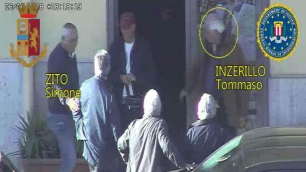 un frame dei video delle immagini di polizia e fbi