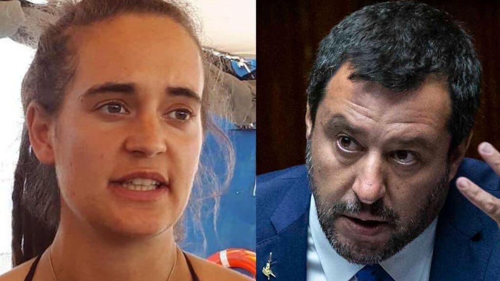 Perché Carola querela Salvini?