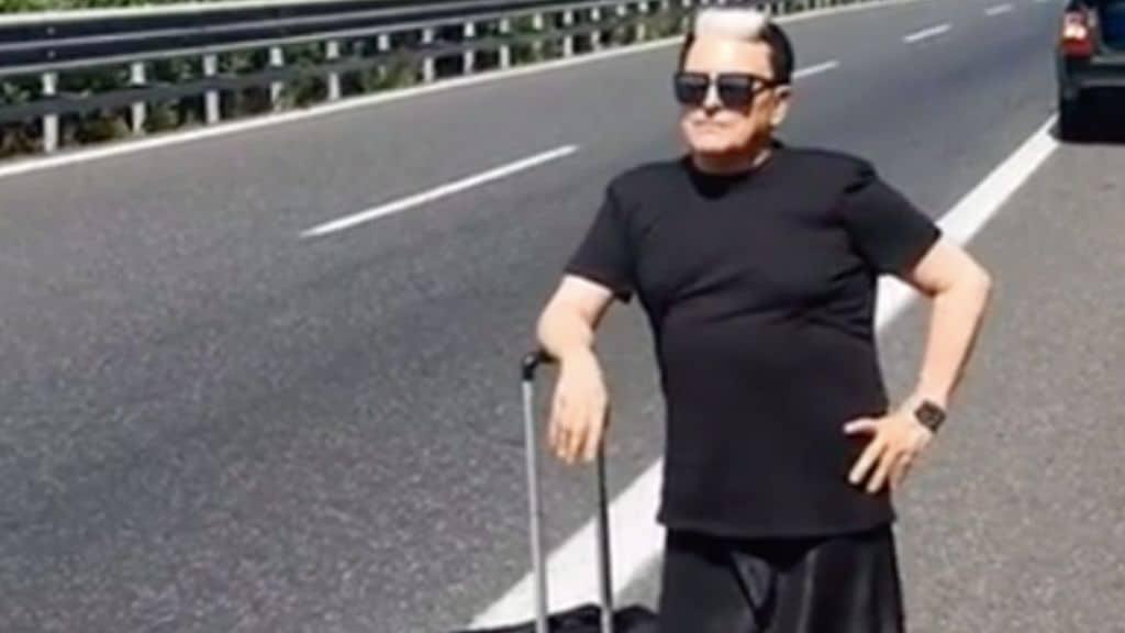 Cristiano Malgioglio autostop