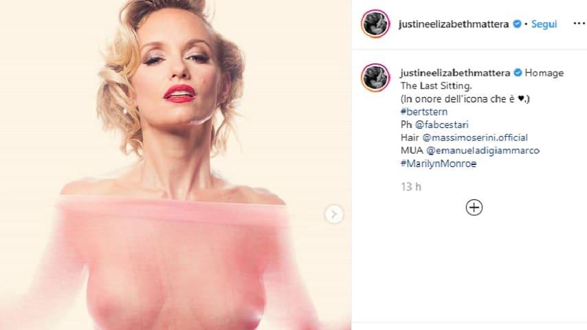 Justine Mattera foto nudo artistico