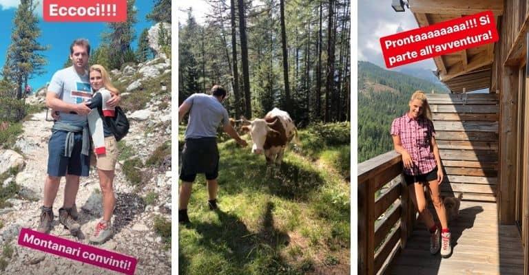 Michelle Hunziker e Tomaso Trussardi si godono le vacanze sulle Dolomiti. Fonte: Michelle Hunziker/Instagram