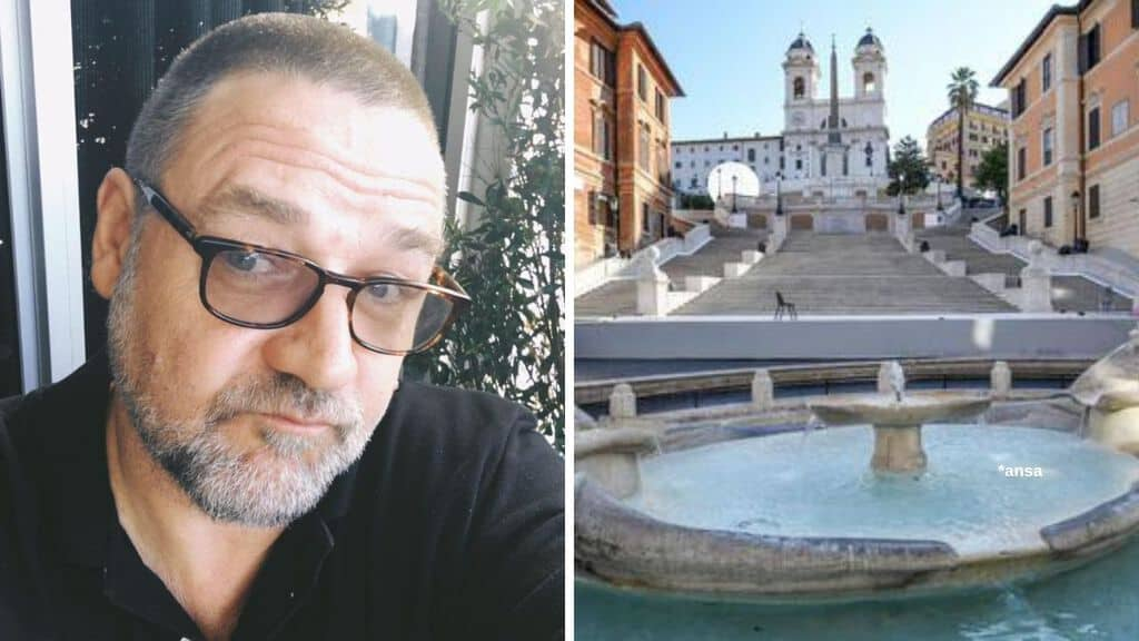Russell Crowe, scalinata piazza Spagna Roma
