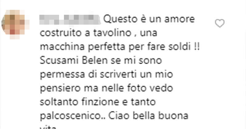 il commento a Belén