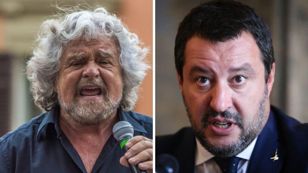 Beppe Grillo e Matteo Salvini