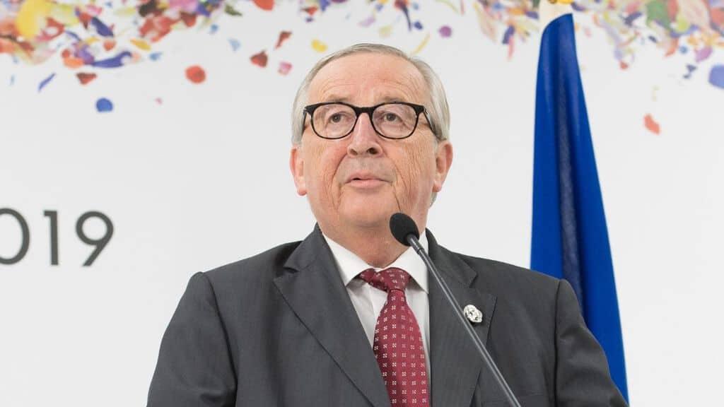 Jean-Claude-Juncker durante una conferenza