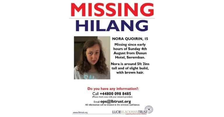 Il manifesto diffuso dall'associazione sulla scomparsa di Nora Quoirin
