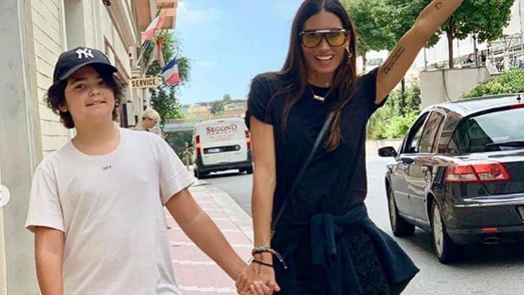 Elisabetta Gregoraci con il figlio Nathan Falco. Fonte: Elisabetta Gregoraci/Instagram