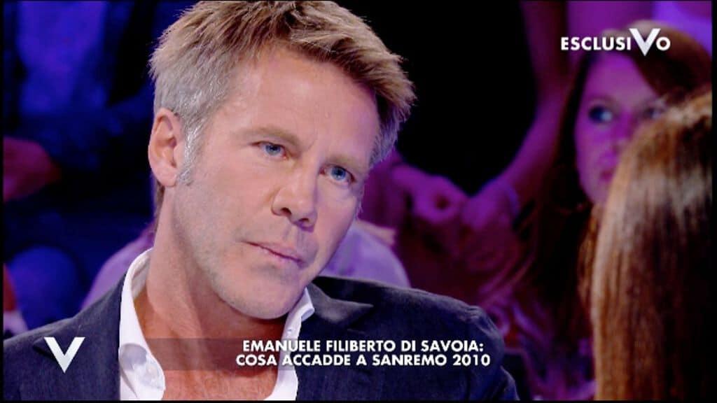 Emanuele Filiberto ospite di Silvia Toffanin a Verissimo. Fonte: Mediaset Play