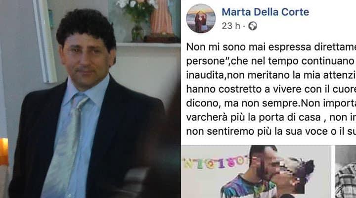 Francesco Della Corte e il post della figlia su Facebook