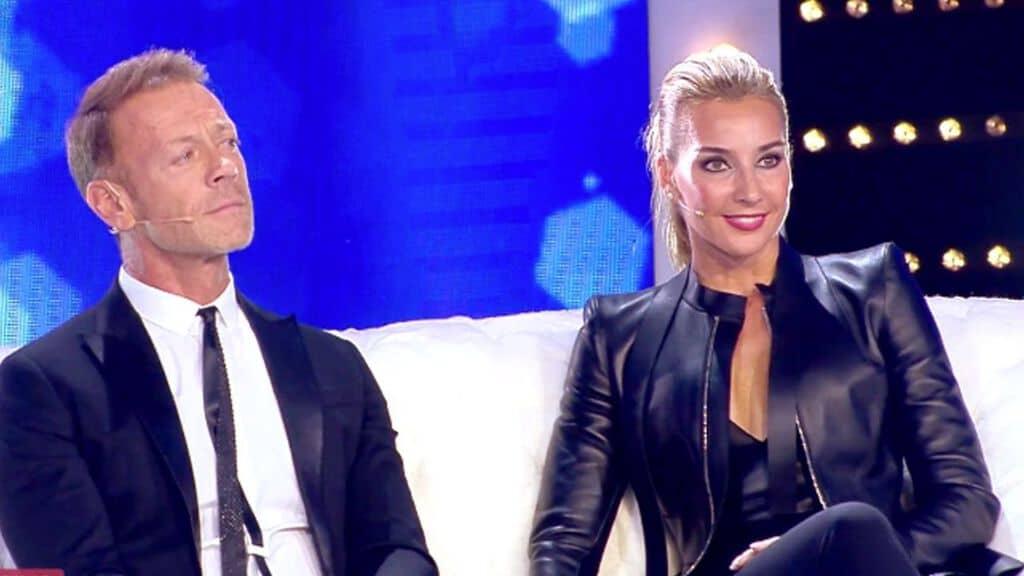 Rocco Siffredi e Rosa Caracciolo nello studio di Live - Non è la d'Urso