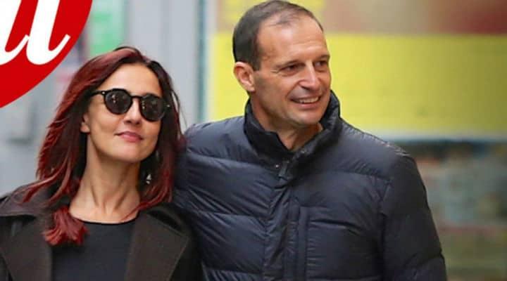 Ambra Angiolini e Massimiliano Allegri a passeggio fotografati da Chi