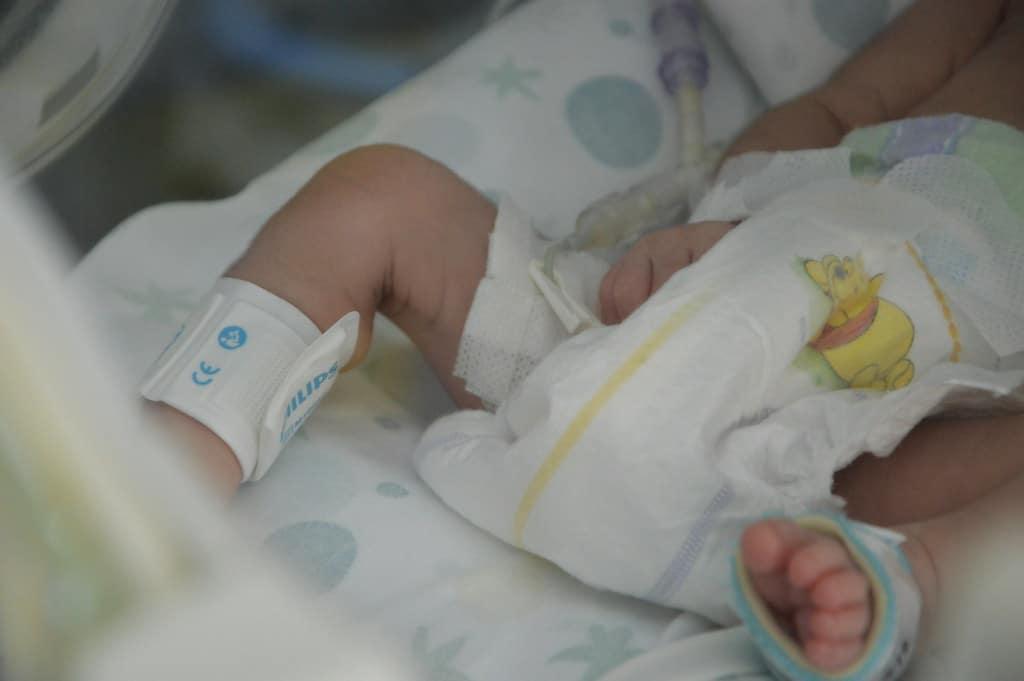 Neonato in ospedale