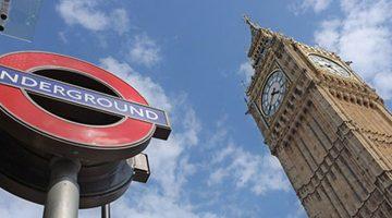 Big Ben e cartello Underground