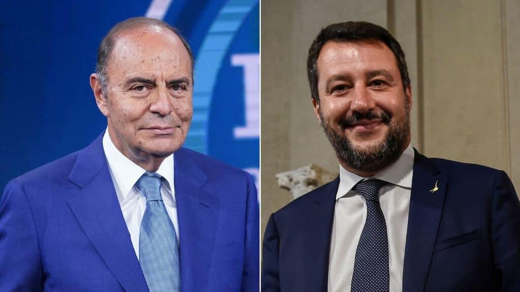 Bruno Vespa e Matteo Salvini