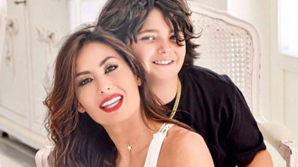 Elisabetta Gregoraci e il figlio Nathan Falco