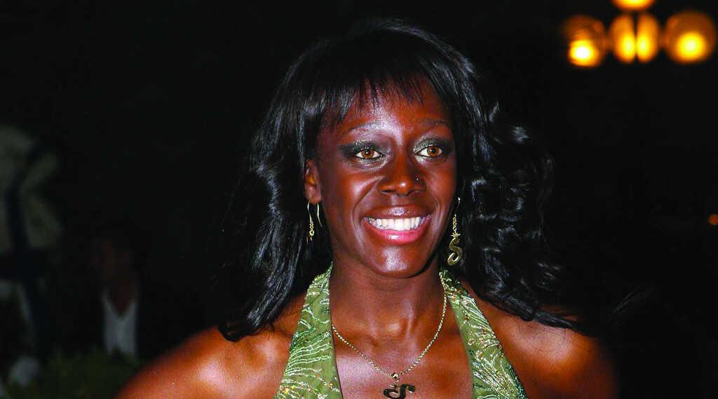 La showgirl, modella e attrice Sylvie Lubamba