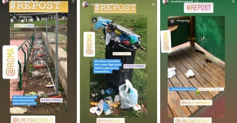 Alcune delle stories pubblicate da Nicoletta Romanoff su Instagram. Fonte: Nicoletta Romanoff/Instagram