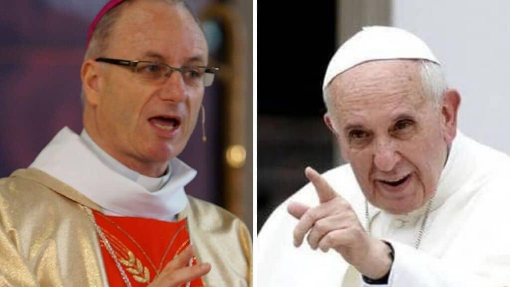 Charles Drennan; Papa Francesco. Fonte: Sito Diocese of Palmerston North; Facebook
