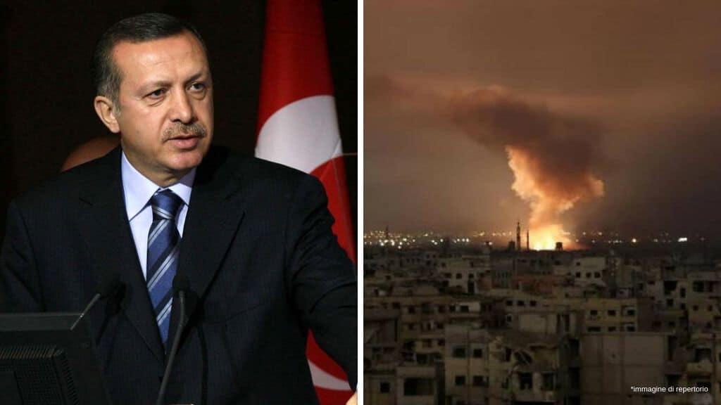 erdogan e un attacco