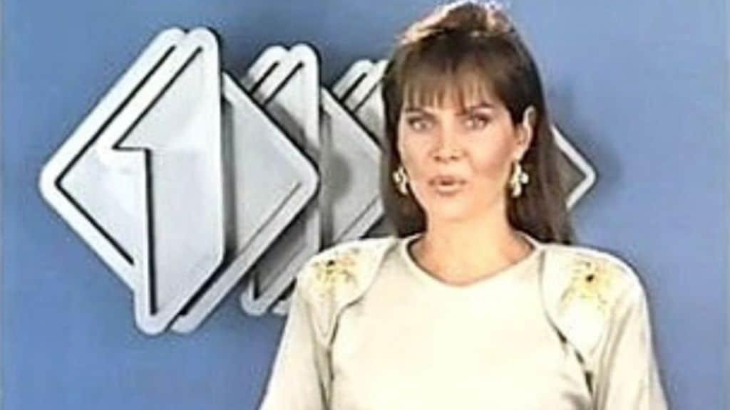 Gabriella Golia in un annuncio tv